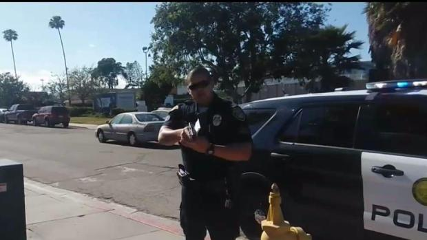 [DGO] Mesa College Campus Police Officer Points Gun at Photographer