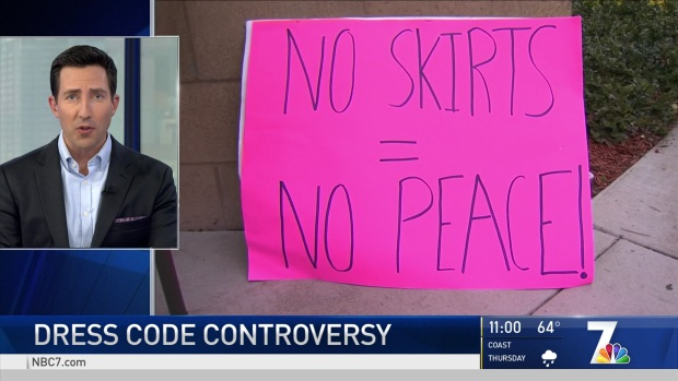 No Skirts, No Peace: Students Rally Outside CCHS