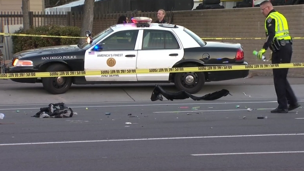 [DGO] Car Hits SDPD Officer, Suspect in Midway District