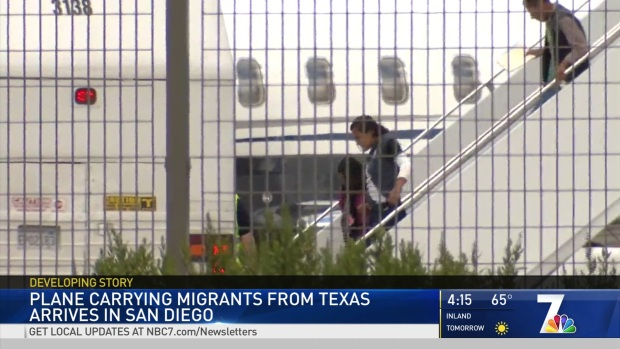 More Migrants From Texas Arrive in San Diego