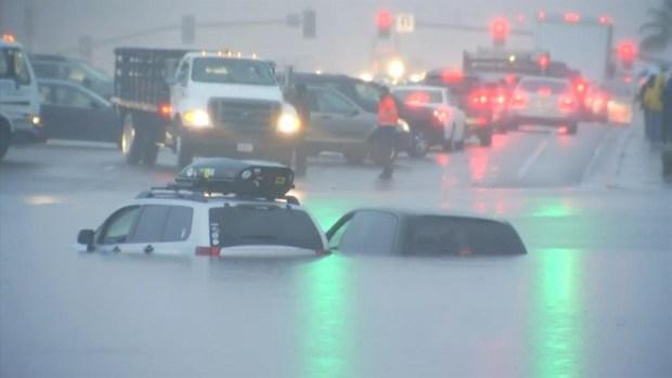 Cars Flooded, Rescues Underway in Miramar