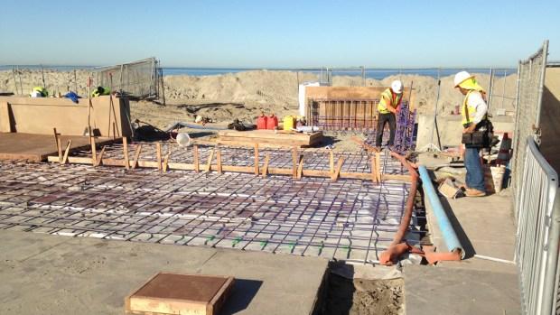 Mission Beach Boardwalk Under Construction