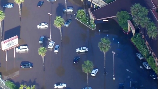 Aerial Tour of Mission Valley Flooding