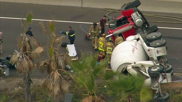 [DGO] Cement Mixer Overturned on I-8/SR-163
