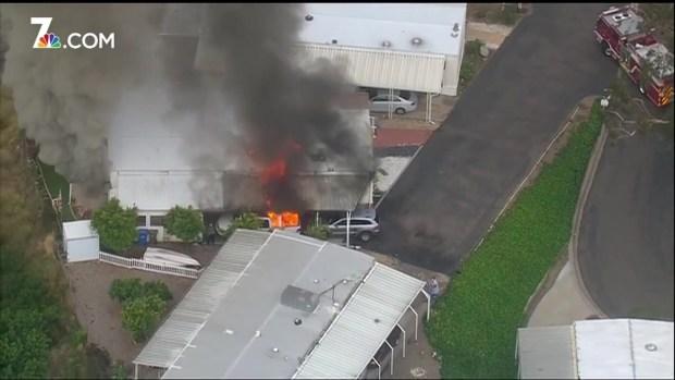 [DGO] Fire Damages Santee Mobile Home