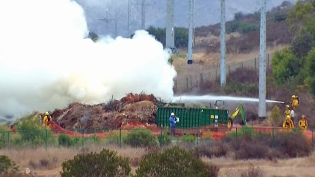 [DGO] Video: Mulch Fire in Rancho Santa Fe