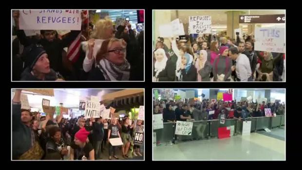 [NATL] Protests Over Trump Immigration Orders Continue for 2nd Day