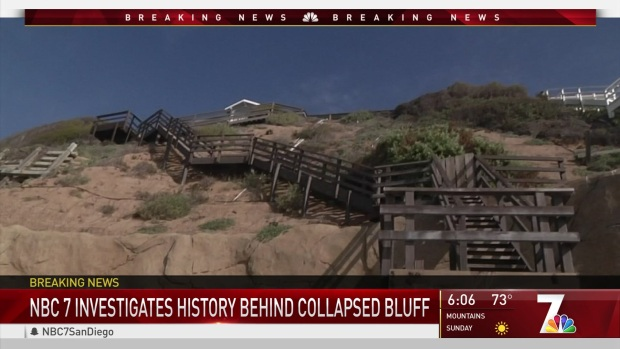 History Behind Collapsed Bluff