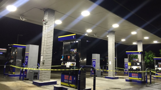 Water, Mud Rush Gas Station Amid Storm
