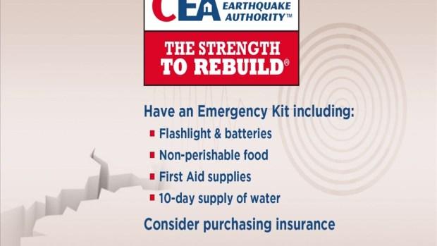 CEA Earthquake Safety Tips