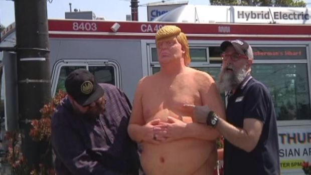 [NATL - DFW] The Man Behind 'Naked Trump' Statues
