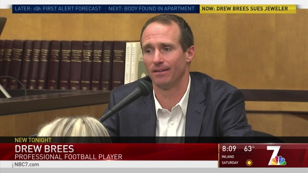 [DGO] NFL Quarterback Drew Brees Sues Local Jeweler
