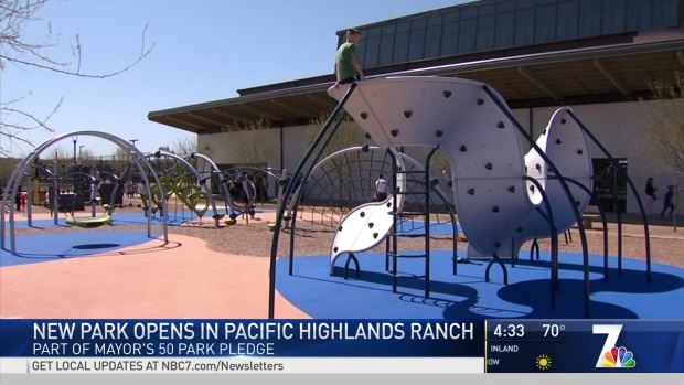 New Park Opens in Pacific Highlands Ranch