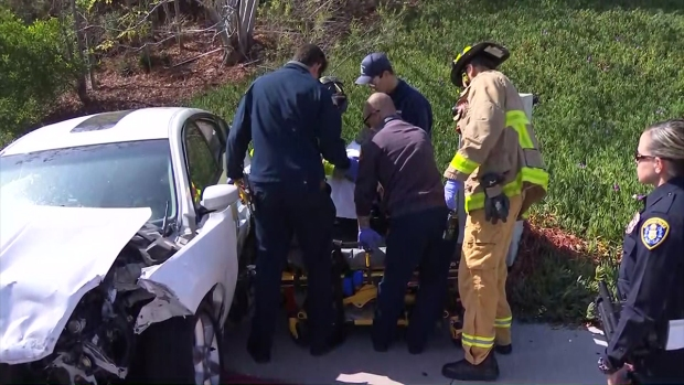 Images: SDPD Sergeant Injured in Traffic Collision in San Carlos