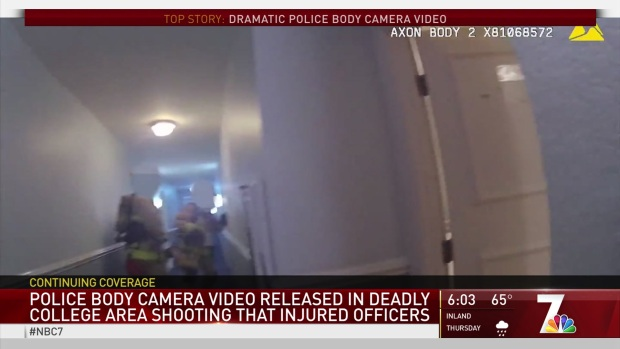 WARNING GRAPHIC VIDEO: Officers Involved in College Area Shooting