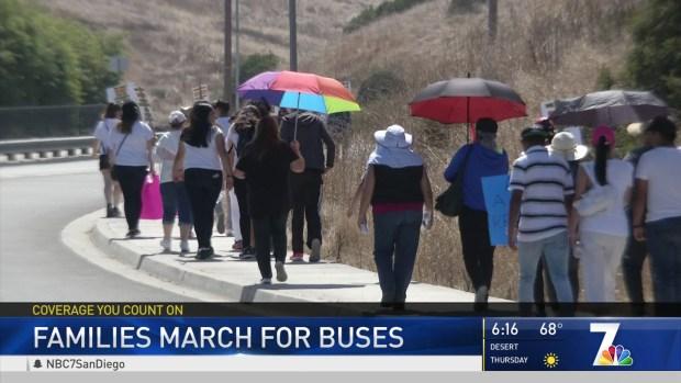 Parents Protest Elimination of Bus Routes