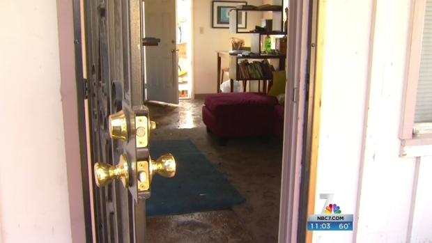 Point Loma Homes Damaged by Floods