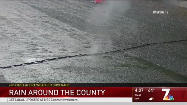 [DGO] Downed Power Line Sparks on Wet Road