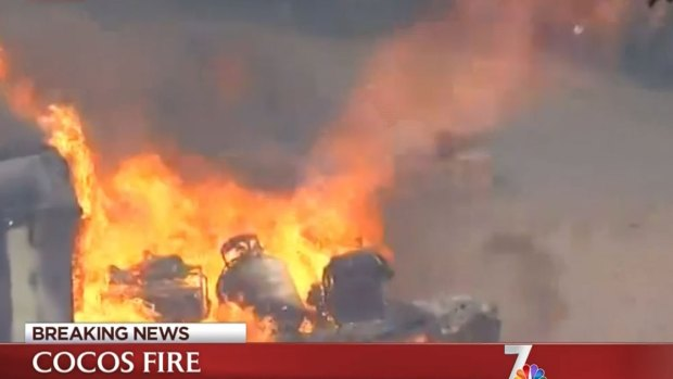 [DGO] WATCH: Propane Tanks Burst in Fire