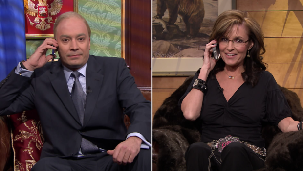 [NATL] Vladimir Putin and Sarah Palin Talk Ukraine, Have Jam Session on Fallon