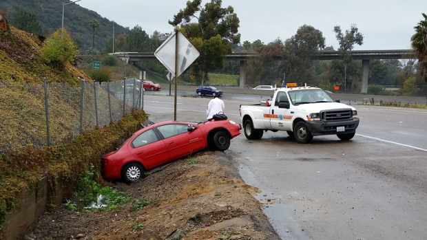 Slick Roads, Crashes Amid Storms