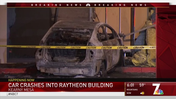 Car Slams Into Defense Contractor Building in Possible Intentional