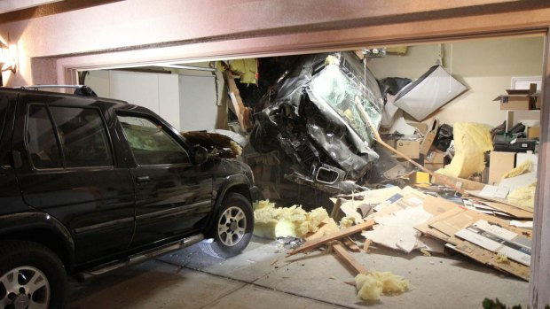 SUV Crashes Through Roof of Escondido Home: Images