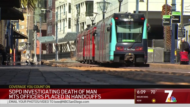 [DGO] SDPD Investigating Death of Man Placed in Handcuffs by MTS