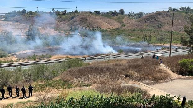 Images: University City Fire Near Rose Canyon