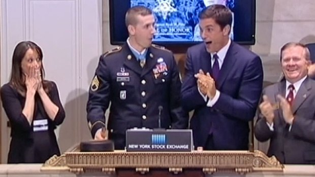 [NATL-DGO-V] Wall Street NYSE Opening Bell Blooper with Medal of Honor Receipient Ryan Pitts