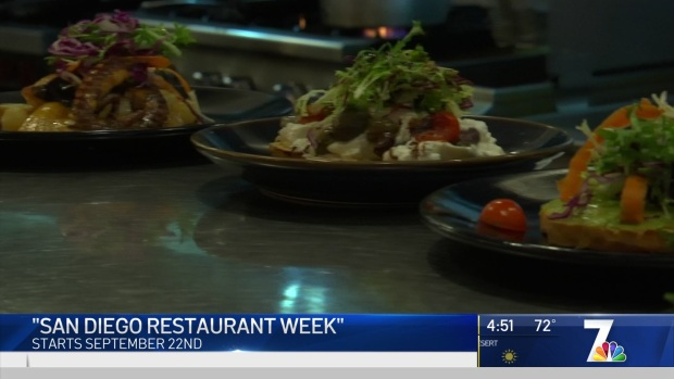 San Diego Restaurant Week Starts Sept. 22