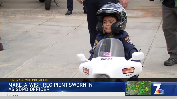 5-Year-Old Sworn in as SDPD Officer for Make-A-Wish