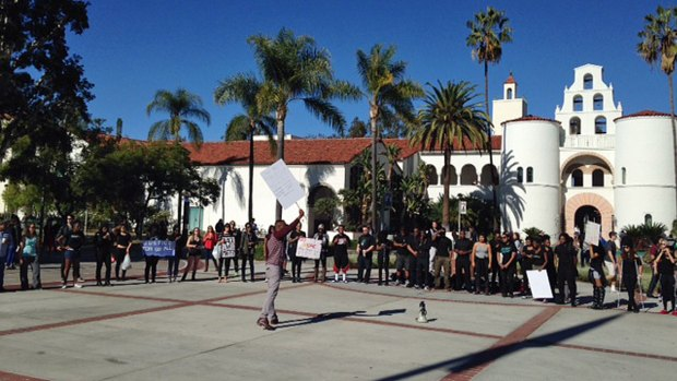 Images: SDSU Students Protest Ferguson Grand Jury Decision