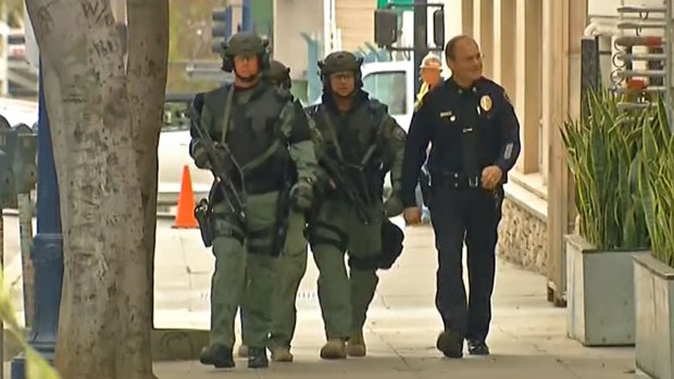 Shots Fired in Downtown Standoff: Images