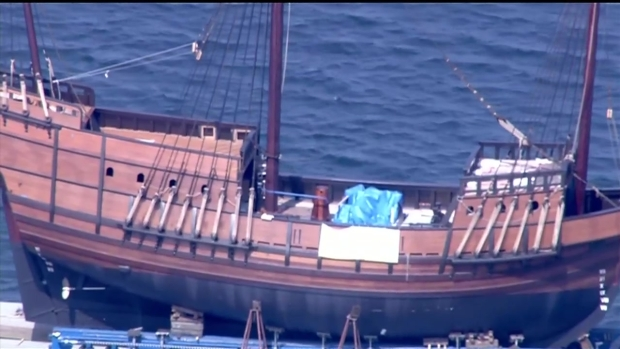 San Salvador Replica Ship Moved