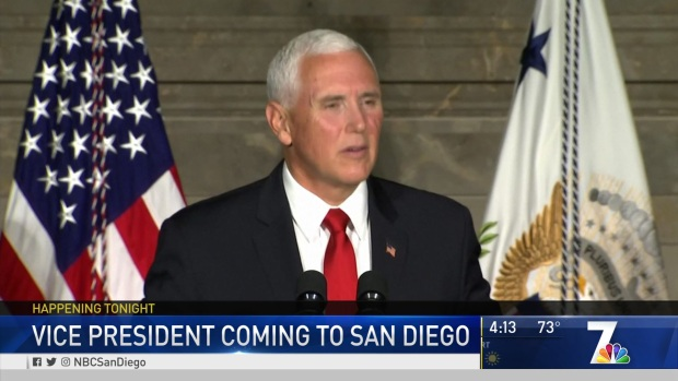 San Diego Readies for Visit from Vice President Pence