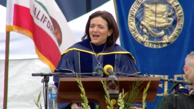 [NATL] Facebook's Sandberg Gives Moving Speech at UC Berkeley