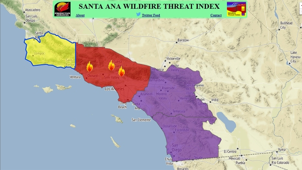 Santa Anas Increased Fire Risk Has Southern California On Edge