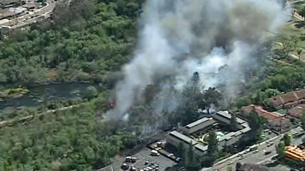 [DGO] WATCH: Fire Burning in Santee