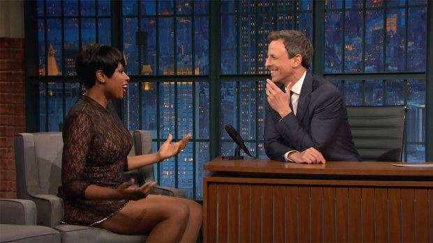 [NATL] 'Late Night': Jennifer Hudson Doesn't Even Do Vocal Warm-ups