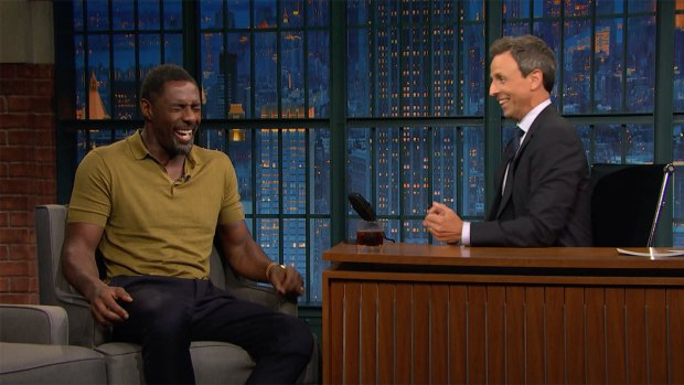 [NATL] 'Late Night': Idris Elba Remembers Meeting Meyers' Mom