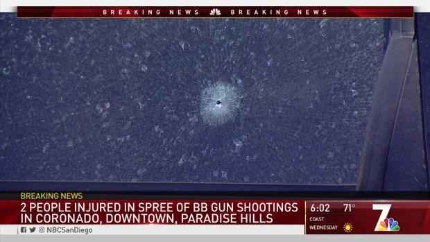 2 People Injured in Spree of BB Gun Shootings Around SD