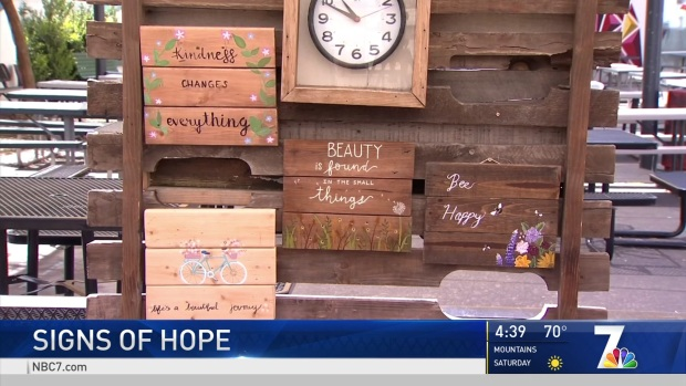 Students Create Signs of Hope for Escondido Community Home