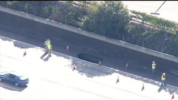 [DGO] Sinkhole Opens Off I-8 in College Area