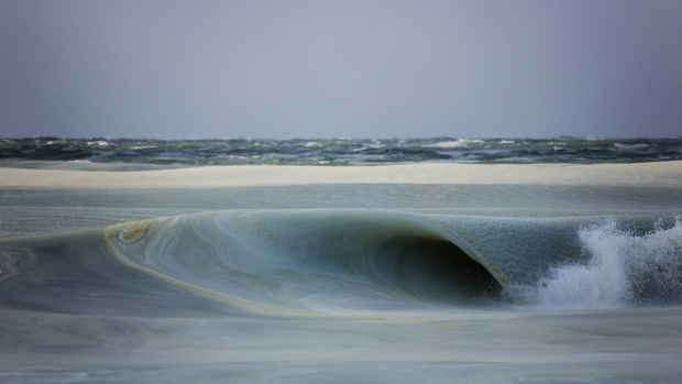Winter Slurpee Waves Crash Down on Beach