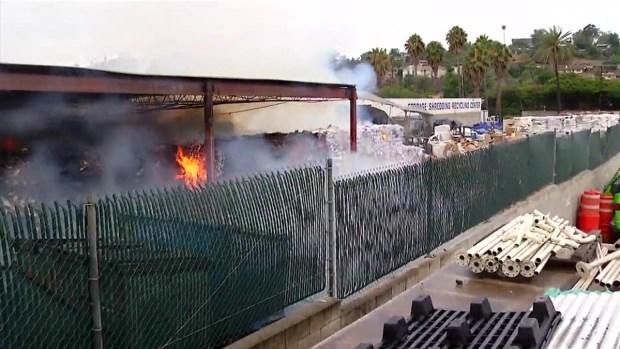 [DGO] Fire Rips Through Recycling Center