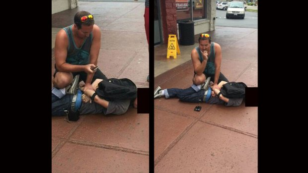 Images: Man Tackles Alleged Bike Thief