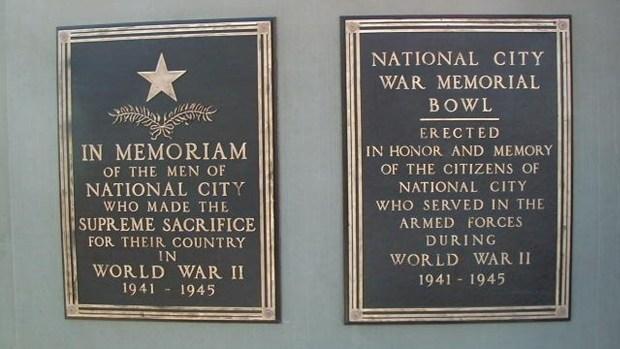 [G] War Memorial Plaques Stolen from Park