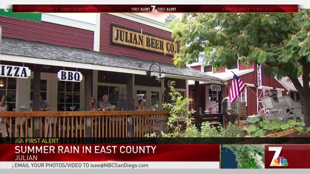 Summer Rain Showers Julian, East County