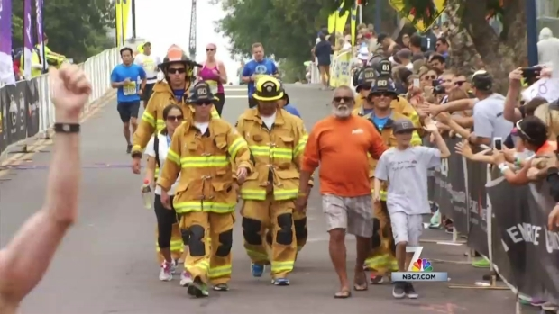 [DGO] Firefighters Run Marathon in Full Gear for Child Battling Cancer